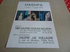 AFFICHE DU PEINTRE  HASHPA 1989.GALERIE J.M VUILLAUME & GALERIE HUGUES BOURDIN.