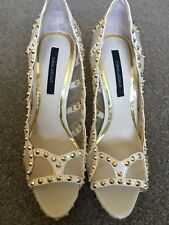 "👠 Bnwt Ladies Nude Stud Shoes Size 7 40  5.5"" Stiletto Heels River Island New"