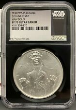 2016 Niue $2 Star Wars Han Solo Proof 1 oz .999 Silver Coin - NGC PF 70 UCAM