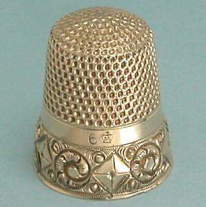 Antique 14 Kt Gold Thimble by H. Muhr's Sons * Circa 1890