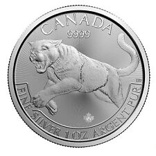 CANADA 5 dollars Argent 1 Once Prédateur Cougar 2016 1 Oz silver coin Predator