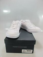 TOMMY HILFIGER Mens TRISTAN White Leather Low Profile Sneakers US 10.5