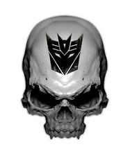 Decepticon Skull Decal - Transformer Sticker Decals