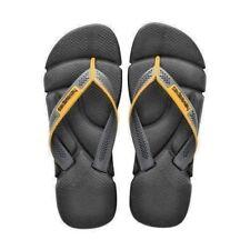 Havaianas Mens Flip-Flops Black/GreyMens SZ 11 -12   (11 1/8 inches heel to toe)