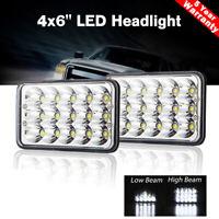 2X 4x6'' LED Headlamp Headlight Hi/Low Sealed Beam Light Lamp for Wrangler Truck