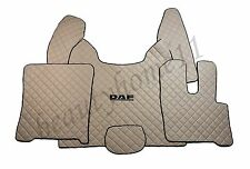 Set of Floor Mats Covers For New DAF XF 106 AUTOMAT RHDrive BEIGE Eco Leather