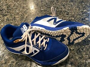 New Balance Low-Cut 3000v4 Turf Baseball Mens Shoes Royal Blue with White