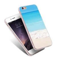 The Sea Beach TPU Pattern Shockproof Phone Case Conque for iPhone Samsung Huawei
