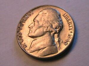 1940-S Jefferson Nickel Choice AU/ BU Lustrous Original White 5 Cent USA Coin
