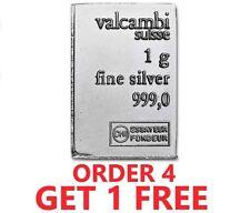 1 Gram .999 Fine Silver Bar