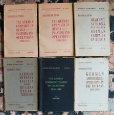 Department of the Army Historical Study pamphlets - LOT OF 6 - World War II