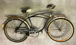 Schwinn 'Panther III' chrome front/rear racks and fenders, chain-guard. Vintage
