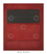 ABSTRACT ART PRINT Black over Reds [Black on Red], 1957 Mark Rothko Poster 28x32