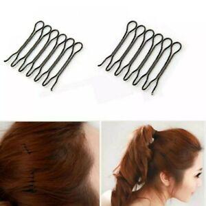 U-shaped Bun Hair Pin Clip Grips Brown Wavy Salon Hairpins HOT  SALE