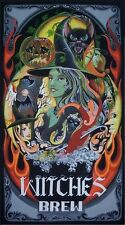 Byrum Fantasy Witches Brew  Bubbline Cauldron Witches Black Cats PRINT Colorful!