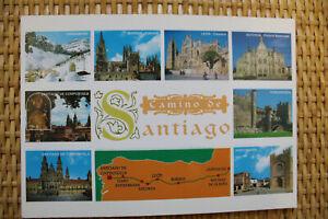 MAP Postcard: CAMINO DE SANTIAGO - Pilgrimage way to Santiago de Compostela #2
