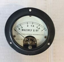Vintage Western Electric CHARGE Q Meter Gauge Steampunk Electronics Test