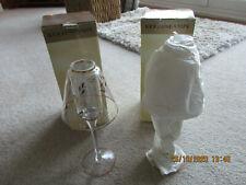 2 GLASS CANDLE TEALIGHT LAMP CANDLESTICKS CHRISTMAS