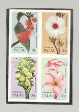 Palau #62a Christmas Flowers 1v Block of 4 Imperf Proof on Construction Paper