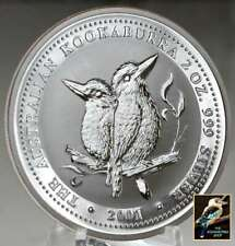 2001 Australian Kookaburra  2 oz .999 Silver with Issued Perth Mint Capsule BU