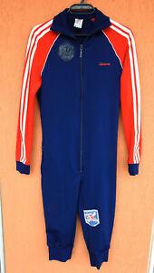 Vintage Adidas Danish Ski Team Track Suit Jumpsuit Sz S/M Made in West Germany