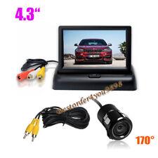 """Mini Auto Rückfahrkamera 170 ° + 4,3 """"LCD Faltbare Auto Monitor Rückansicht Kit"""