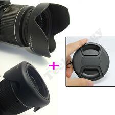 58MM Reversible Petal Flower Lens Hood+Snap on cap for Canon Rebel T5i T4i T3i