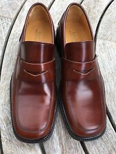 Men's Brown Jones Bookmaker Shoes Penny Loafers Moccasins Shoes UK 8.5.