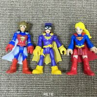 3X Imaginext  Super Friends Flashpoint Wonder Woman Supergirl Batgirl Figures
