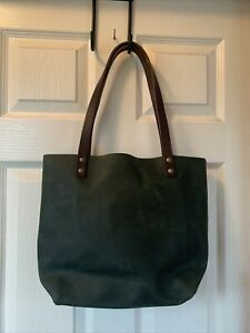 Portland Leather Goods Tote Medium Green