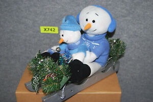 Avon A Magical Winter Sleigh Ride Snowmen   Lights Up & Talks   X742