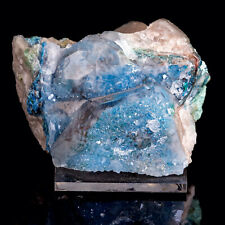 Shattukite, Dioptase in QUARTZ Crystal Cluster - Raw Stone Decor, Healing 39738