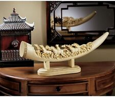 Chinese Stampeding Horses Art Deco Elephant Replica Sculpture