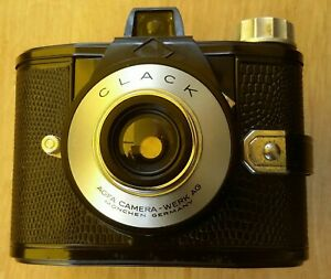 Agfa Clack Rollfilmkamera mit Tasche