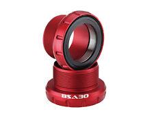 Bsa30 Cycling Bike Bottom Bracket Bb for Bsa frame to fit 30mm crank Red