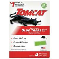 Super Hold Glue Traps Mouse Size, 4 Traps By Tomcat