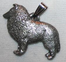 Sheltie Shetland Sheepdog Dog Harris Fine Pewter Pendant Jewelry Usa Made