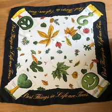 LOVELY RARE MOSCHINO 'BEST THINGS IN LIFE ARE TREES' SILK SCARF PERFECT!
