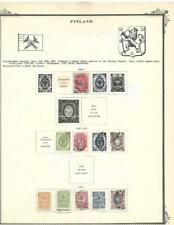 From A 1901-20 Scott Brown - Small Finland Collection On A Page - SEE!!!