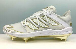 Adidas Adizero Afterburner 7 Gold Baseball Cleats White EG5631 Men Size 10