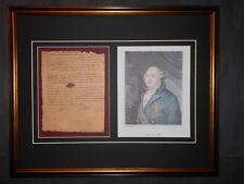 King Louis XVI France Signed Letter & Portrait Framed
