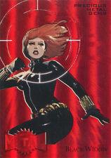 Marvel Fleer Retro 2015 Precious Metal Gems Red Black Widow #018/100