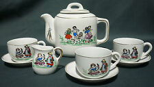 DINETTE ANCIENNE PORCELAINE / SERVICE CAFE - 8 PIECES DECOR ENFANTS - OLD CHINA