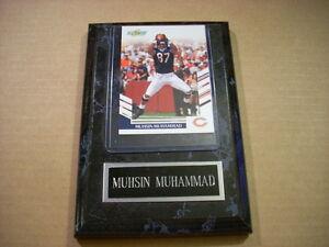 Muhsin Muhammad Chicago Bears Score 2007 Card in plaque