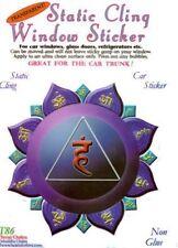Throat Chakra Static Cling Window Sticker