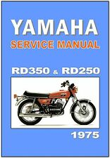 YAMAHA Workshop Manual RD350 RD250 RD350B RD250B 1975 Service & Repair