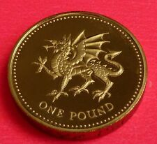 2000 Royal Mint Welsh Dragon £ 1 una libra moneda de prueba