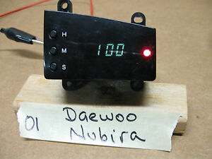 2001 DAEWOO NUBIRA DASH DIGITAL CLOCK