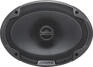"Alpine SPE-6090 Car Audio Type E Coaxial 6x9"" Speakers 600W Speaker Pair New"