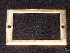 File Cabinet Card Frame Brass
